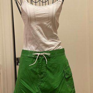 J. Crew green nautical mini skirt w pocket NWT 2